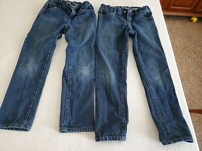 2 Pairs Of CHILDREN'S PLACE BOYS SIZE 7 SKINNY JEANS EUC
