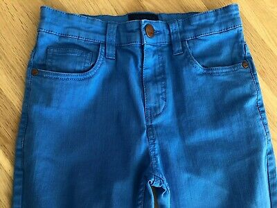 Boys NEXT Bright Blue Skinny Trousers Jeans Age 11 Years Excellent Condition