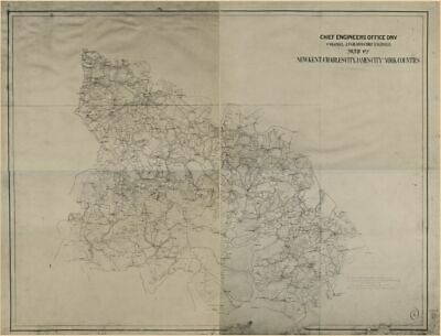 1860 map of New Kent, Charles City, James City and York counties|Size 18x24 - Re