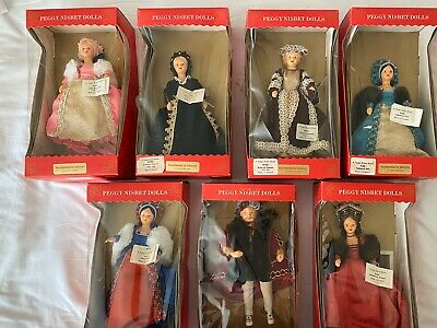 Henry VIII and his Six Wives Dolls By Peggy Nisbet
