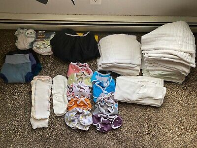 Cloth Diaper Lot of 50+ OsoCozy Infant/toddler Unbleached/bleach Prefold diapers