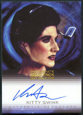 The Complete Star Trek DS9 Kitty Swink as Vayna Autograph Card A7