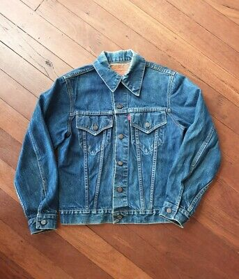 Vintage 70s Levis Type 3 70505 Denim Trucker Jean Jacket 40 No Big E