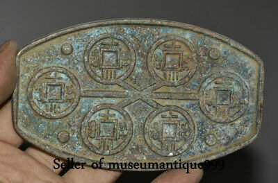 """4.8"""" Ancient Chinese Bronze Ware Dynasty Money Coin Mould pattern die"""