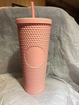 NEW STARBUCKS 2020  Spring Collection Matte Pink Studded Cold Cup Tumbler 24 Oz.