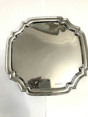 Silver 4 Footed Silver Platter / Tray - Emile Viner - Sheffield - 1939