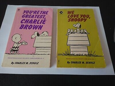 Vintage We Love You Snoopy, You're The Greatest CHARLIE BROWN ..Softcover...