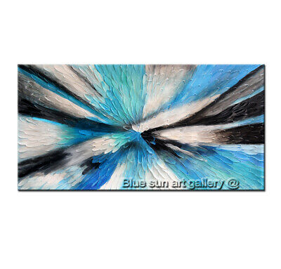 Hand Painted 3D Abstract Oil Painting On Canvas Texture Palette Knife Wall Art