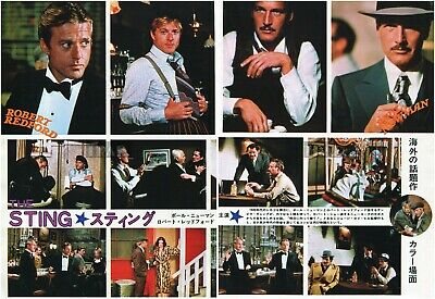 PAUL NEWMAN ROBERT REDFORD The Sting 1974 Japan Picture Clippings 2-SHEETS me/w