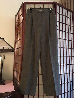 JONES NY Womens Navy Blue HighRise Wide Leg Pleated Lined Dress Pants 10 NWT$119