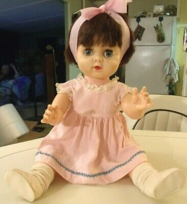 """Vintage 20"""" Baby Doll, Drink & Wet, Unmarked"""