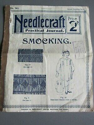 VINTAGE NEEDLECRAFT PRACTICAL JOURNAL No.141  Smocking  Circa 1917