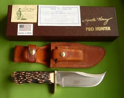 """Schrade USA """"171UH"""" Uncle Henry  """"Pro Hunter"""" Skinning Knife in Box with Papers."""