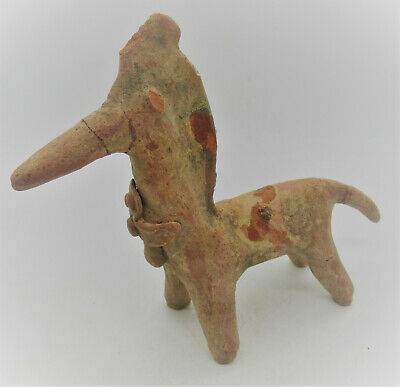 Rare Ancient Greek Archaic Period Terracotta Horse Statuette