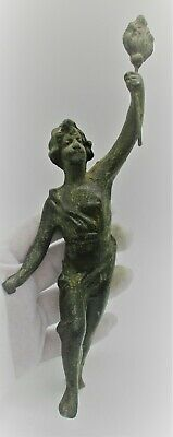 Very Nice Antique Roman Style Grand Tour Period Statuette Of Eros