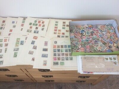 Stamps From Old Collection. Commonwealth/ Worldwide. Hundreds Loose,on Pages Etc
