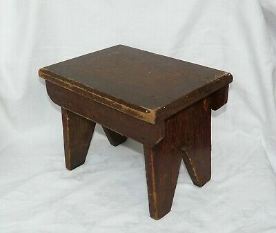 Small Vintage Childs ? Wooden Pine Stool Stepping Stool
