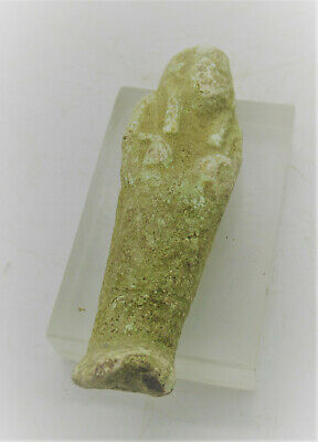 Circa 500Bce Ancient Egyptian Faience Ushabti Shabti Amulet