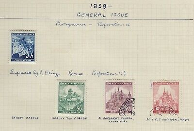 {Old 116}  Germany Bohemia & Mahren 1943 Stamps From A Collection