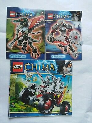 70203 70204 70004 Lego Legends Of Chima Building Instruction Manual Booklets lot