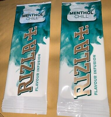 2 Packs Menthol  Strips To Flavour Your Filters Beat Menthol Ban NEW By Rizla
