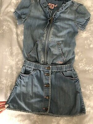 Girls Age 10 Denim Juicy Couture Two Piece Skirt Jacket