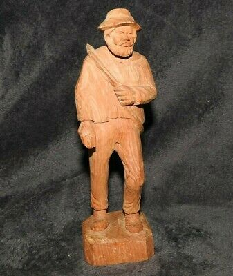 JOGLER German Hand Carved Figurine of Walking Man with Saw