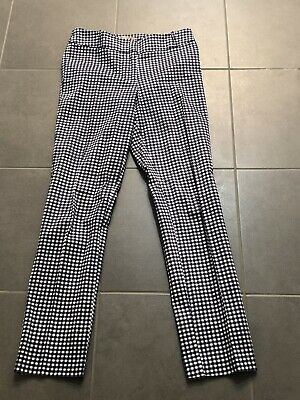 Review Navy Check Pants Size 6 As New