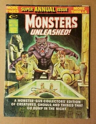 Stan Lee's MONSTERS UNLEASHED MAGAZINE # 1 1975 Super Summer Annual Issue Marvel