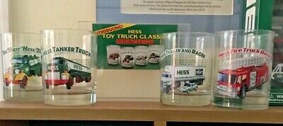 1996 Hess Trucks Collectible Glasses (4) Set