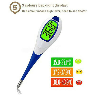 US Digital LCD Medical Thermometer Heating Fever Testing Temperature Baby Adult