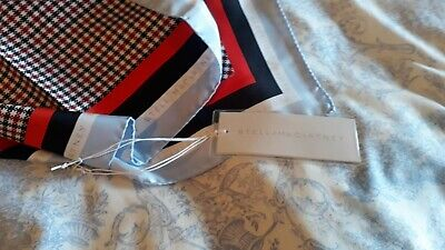 STELLA McCARTNEY Classy Design Silk Scarf Brand NEW with Labels Rrp £280