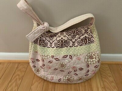 Pink Floral and Lime Beach Bag Handbag Purse Shopper Tote Pocket book Diaper bag
