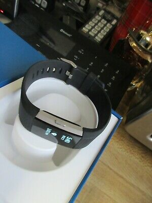Fitbit Charge 2 Heart Rate Monitor Fitness Tracker Wristband Large - Black
