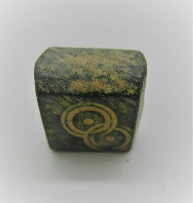 Authentic Byzantine Period Bronze Cube Solidus Weight. 6G