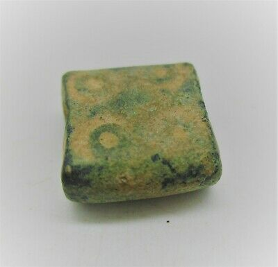Authentic Byzantine Period Bronze Cube Solidus Weight. 4G