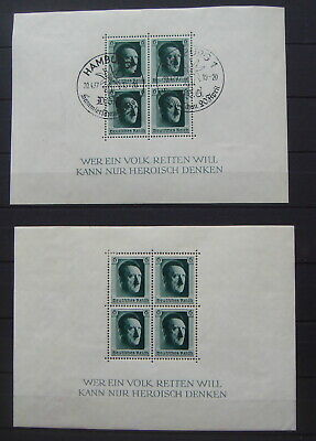 Germany 1937 Hitler Culture Fund S.Sheet Used/Unused(Mint has some adhesion/4 hi