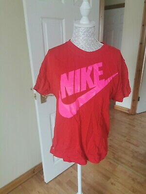 Nike Red Girls Top Size Xl 12-13 Years