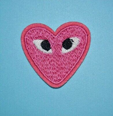13PCS Comme Des Logo Iron On Patch Embroidery Heart Eyes Garcon Japan Play Badge
