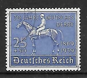 GERMANY - 1939.  German Derby Anniv - 25pf+50pf., Used.  Cat £25