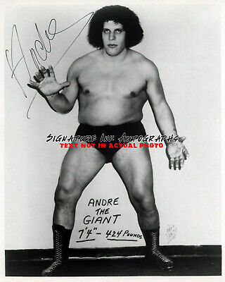 Andre the Giant vintage autograph signed 8 x 10 photograph wwe wwf wrestling rep