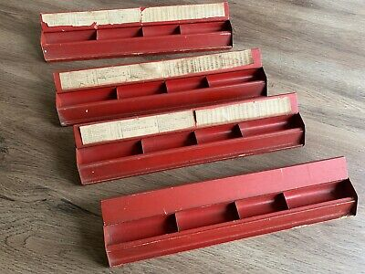 Antique 1920s Mah Jongg Wood  Metal Tile Rack Set 4  Mahjong