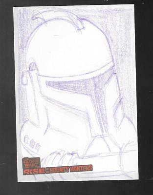 Star Wars Rise of the Bounty Hunters 2010 sketch card Lawrence Snelly
