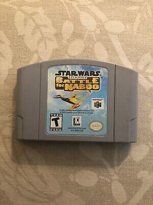 Star Wars Episode 1: Battle For Naboo Nintendo 64 Game Authentic N64 Cartridge