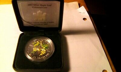 Canada 2003 $5 Maple Pure Silver 1 Troy Oz Summer Leaves Bv 70 29416 Minted Look