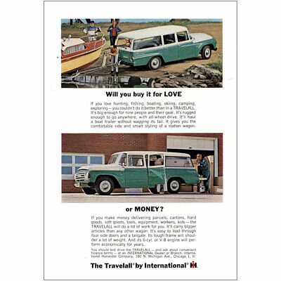 1964 Travelall International Harvester: Will You Buy  Vintage Print Ad