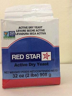 RED STAR ACTIVE DRY YEAST 2 LB (32 oz) NON GMO BREAD BAKING BEST FOR DOUGH