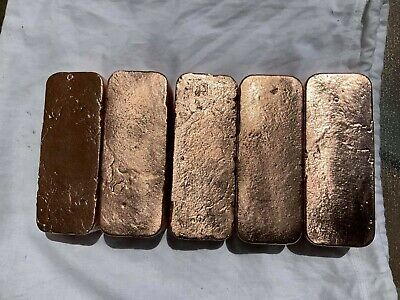 99.9% COPPER BARS 1kg each (give or take) $40 made by super bright copper