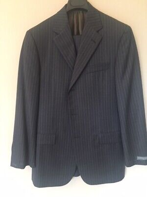Hickey Freeman Men's Suit 3 Button with Pleated Pants size 38 R