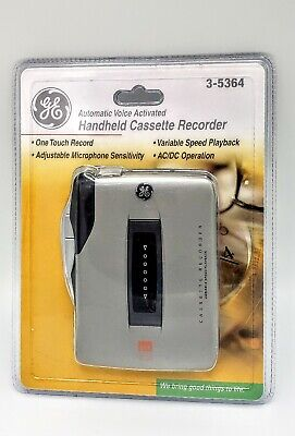 New Cassette Recorder GE 3-5364 Walkman Automatic Voice Activated.